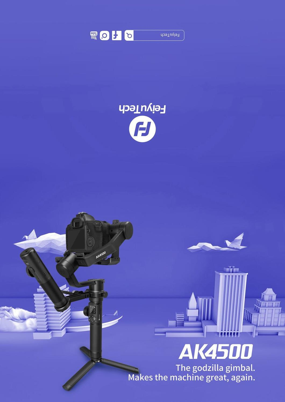 Image 4 - FeiyuTech AK4500 Camera Stailizer 3 Axis Handheld Gimbal for Sony/Canon/Panasonic/Nikon,Payload 10.14lbHandheld Gimbal   -
