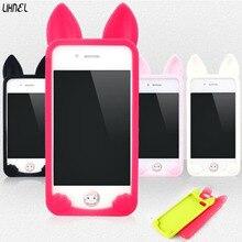 LIHNEL 4S 5S 5C 3D koko Cat Cute Cartoon Fashion Ear Cat Rabbit Bunny Ear Case For IPhone X 4S 5C 5S 6 6S Plus 7 7Plus Covers