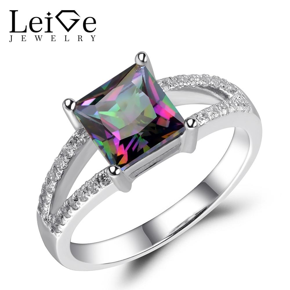 anniversary ring for women, Alexandrite ring mystic topaz Ring sterling silver
