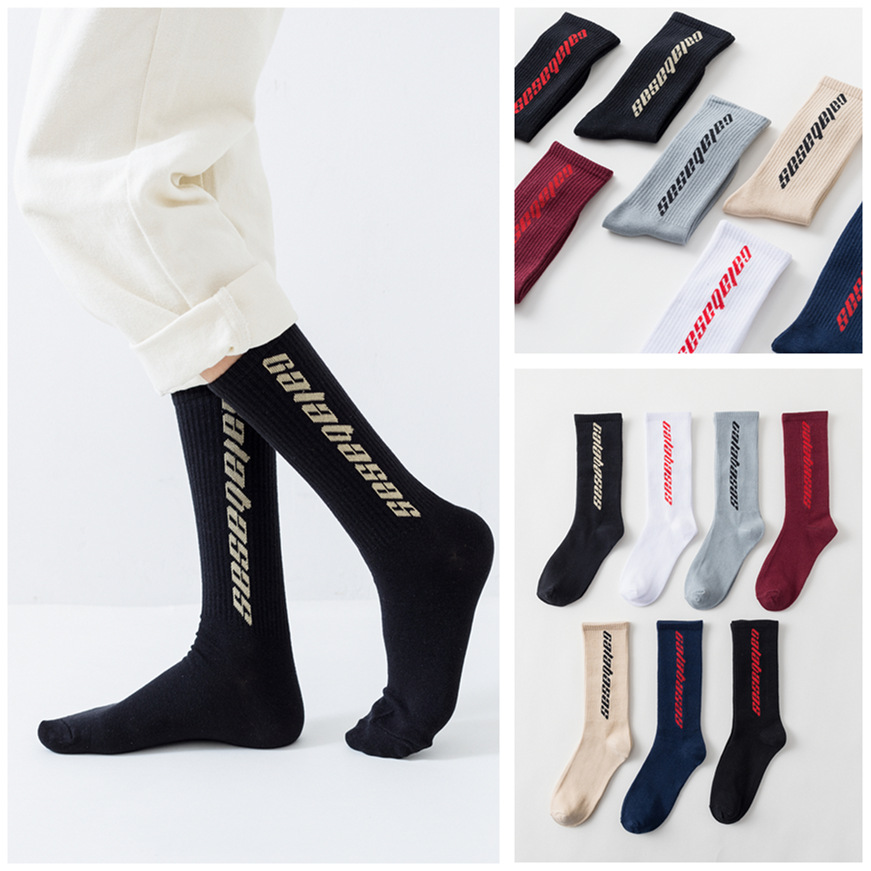 Hip Hop New Men Women Socks Calabasas Socks Men Happy Socks Meias Harajuku Calcetines Streetwear Casual Crew Socks WZXW018