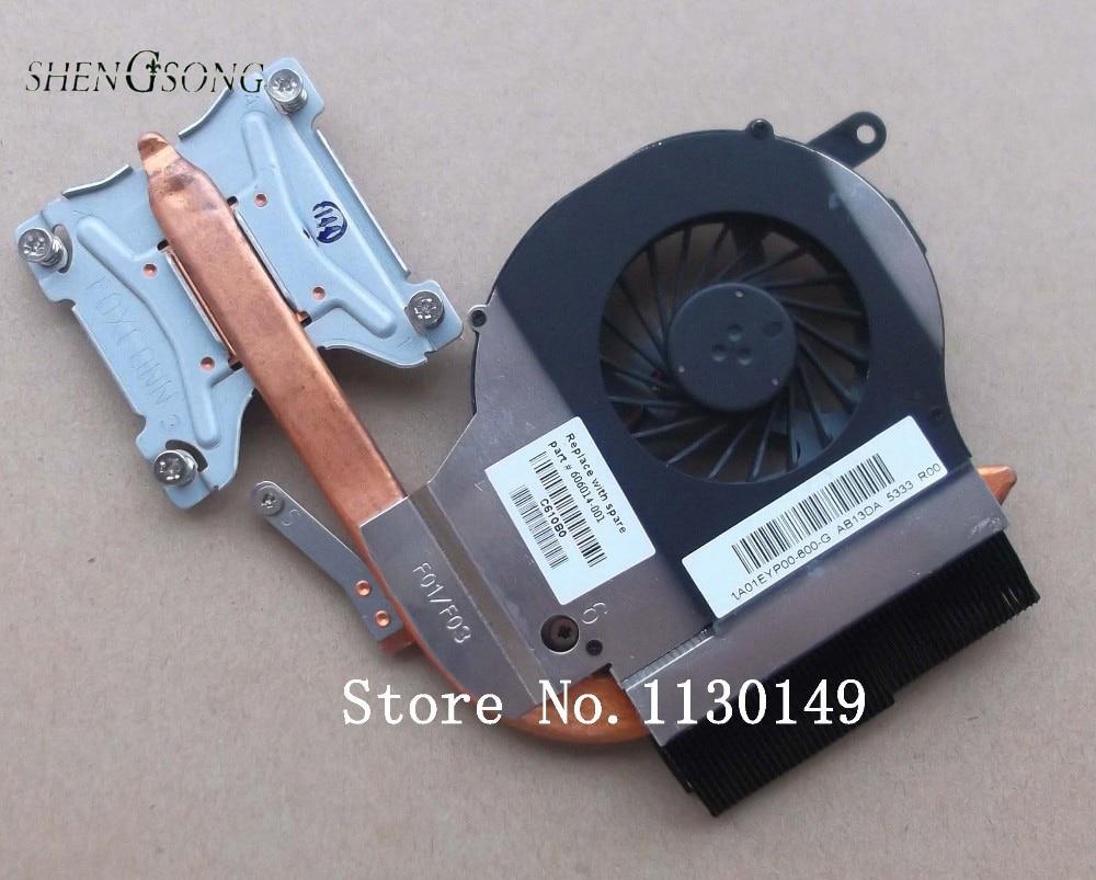 Brand new and original heatsink with fan for HP Pavilion G72 G62 G62-B35SG laptop heatsink 606014-001 1A01EYP00-600-G brand new original for dell fan ksb0605hc 23 10546 001 v0stro v131 bb82