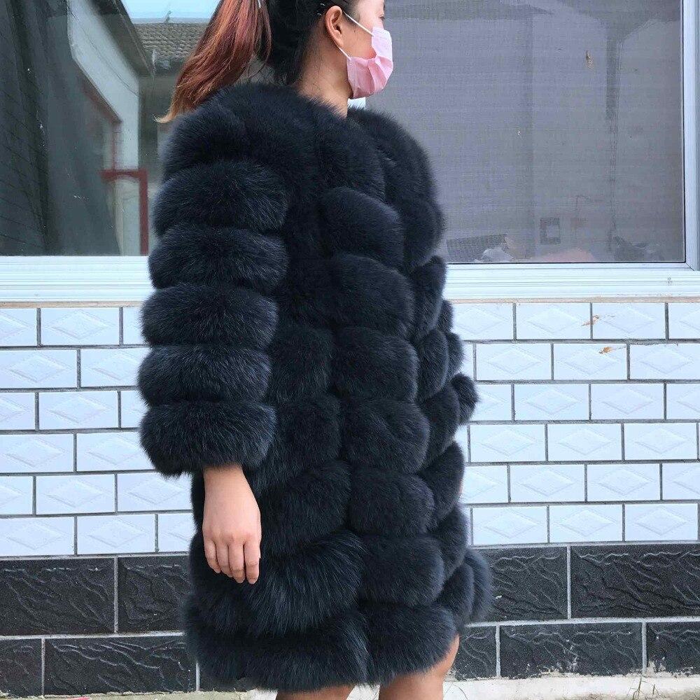 2018 Brand Top Quality Natural Fur Coat Real Arctic Fox Vest Ladies Detachable Women Thick Design Winter Transformer Coat