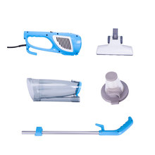 TintonLife New Ultra Quiet Mini Home Rod Vacuum Cleaner Portable Dust Collector Home Aspirator White&Blue Color