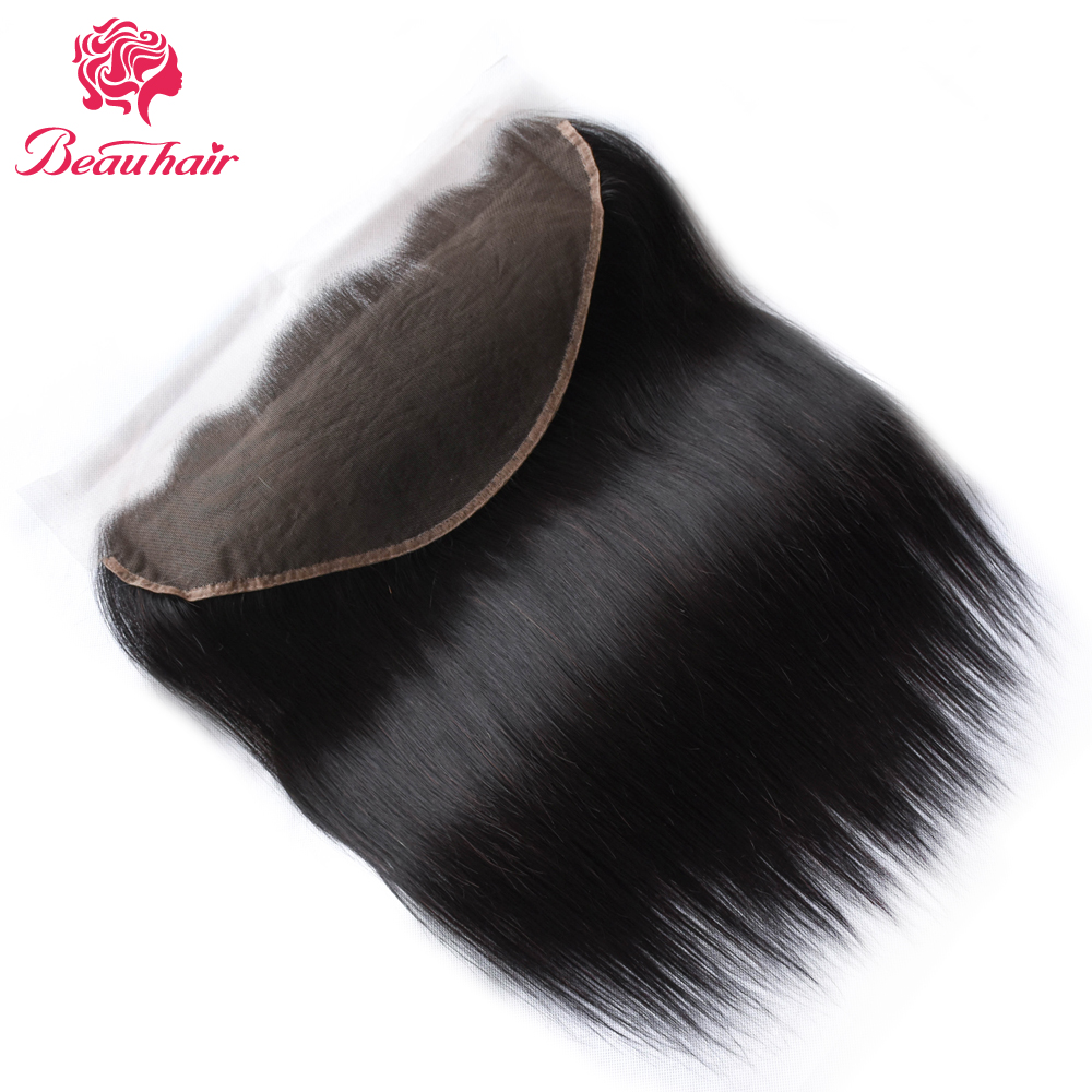 Beauhair Indian Straight 13X6 Ear To Ear Lace Frontal Closure Human Non Remy Hair Lace Frontal Closure with Baby Hair