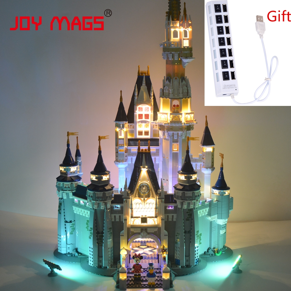 JOY MAGS Led Light Kit (Only Light Set) For Cinderella Princess Castle City Block  Compatible with Lego 71040 16008 lepin 16008 creator cinderella princess castle city 4080pcs model building block kid toy gift compatible 71040