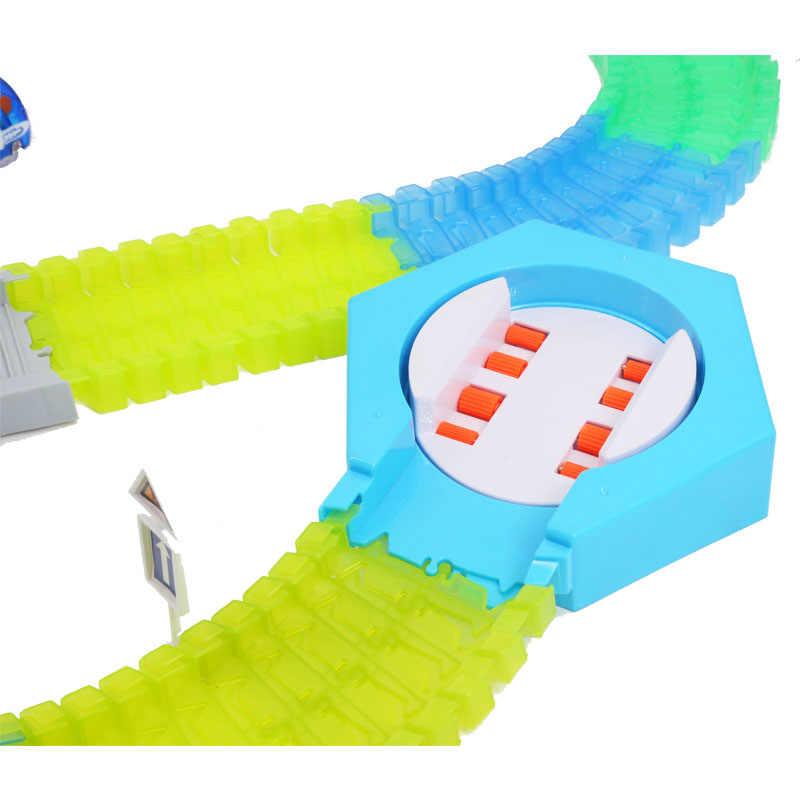 240 Pcs Magical Track Collection Kids Verjaardagscadeau Elektrische Gloeiende Racing Diy Led Speelgoed Auto Kinderspeelgoed Voor Jongens grils
