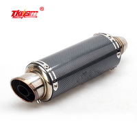 2017 Newest High Quality Stanless Steel Universal Motorcycle Exhaust Pipe Muffler Racing Exhaust With Sticker