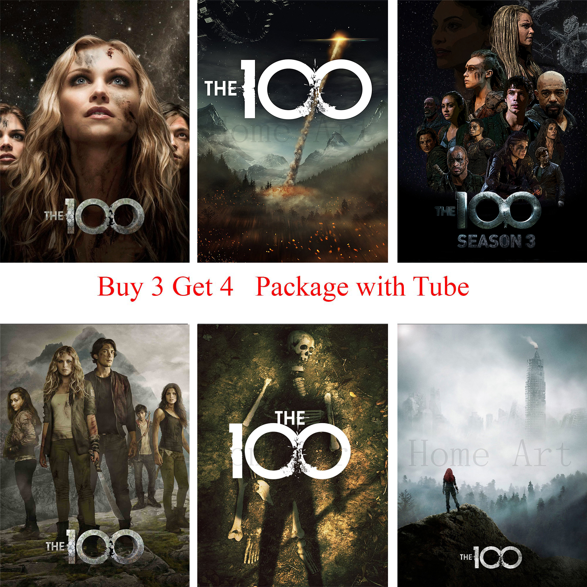 The 100 Poster Clear Image Wall Stickers Home Decoration High Quality Prints White Coated Paper Home Art Brand