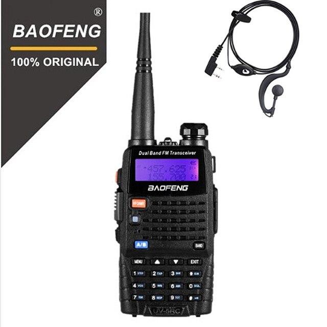 BaoFeng UV 5RC Updated Version Walkie Talkie UHF VHF Dual Band Two Way Radio 5r Handheld Walky Talky Ham CB Radio Commmunicator