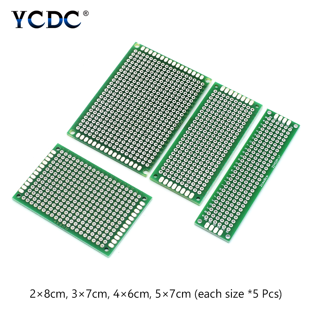 20pcs set for diy projects pcb printed circuit board dual sides