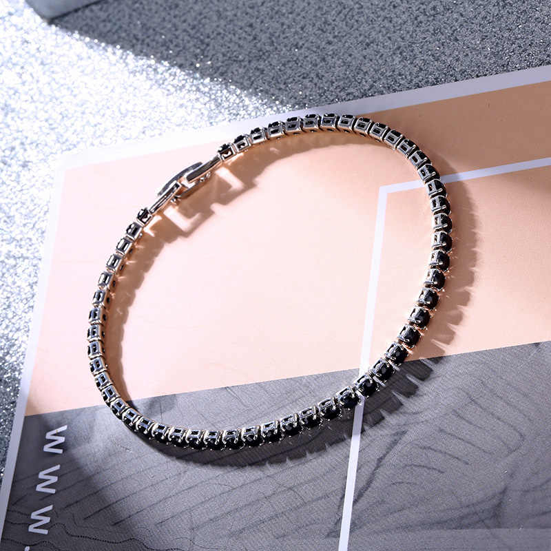CARSINEL מותג צבעים זירקון אבן צמידים & צמידים לנשים כסף צבע ארוך צמיד תכשיטי חברה BR0273