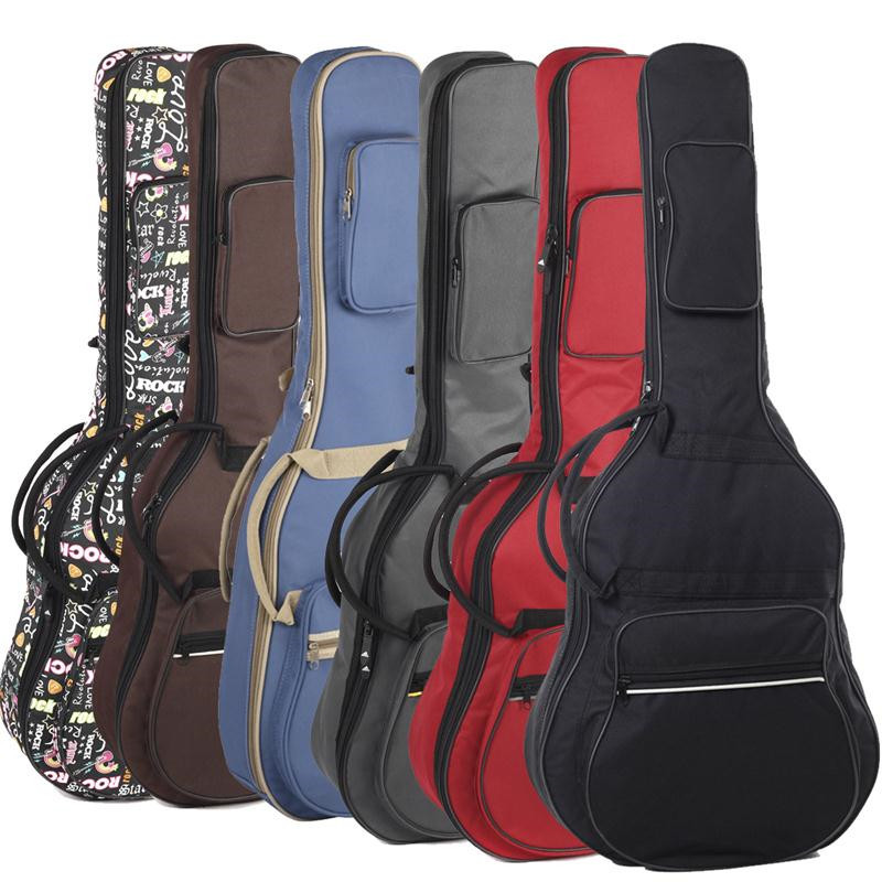 41 Inch Oxford Cloth Bass Guitar Carry Cover Ukulele Case Box Guitar Bag with Shoulder Straps For Music Instruments Parts 41 inch classical acoustic guitar back carry cover case bag 5mm shoulder straps
