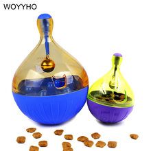 Funny Tumbler Cat Toys Leakage Ball Feeder Anti-depression Pet IQ Training Food Dispenser Interactive Toy For Kittien Dogs S/L