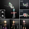 Chinese Ancient Costume Jewellery Headwear Hairpin Step shakeHandmade Metal Headdress for KURHN OB27 Bjd Doll Accessories Toys