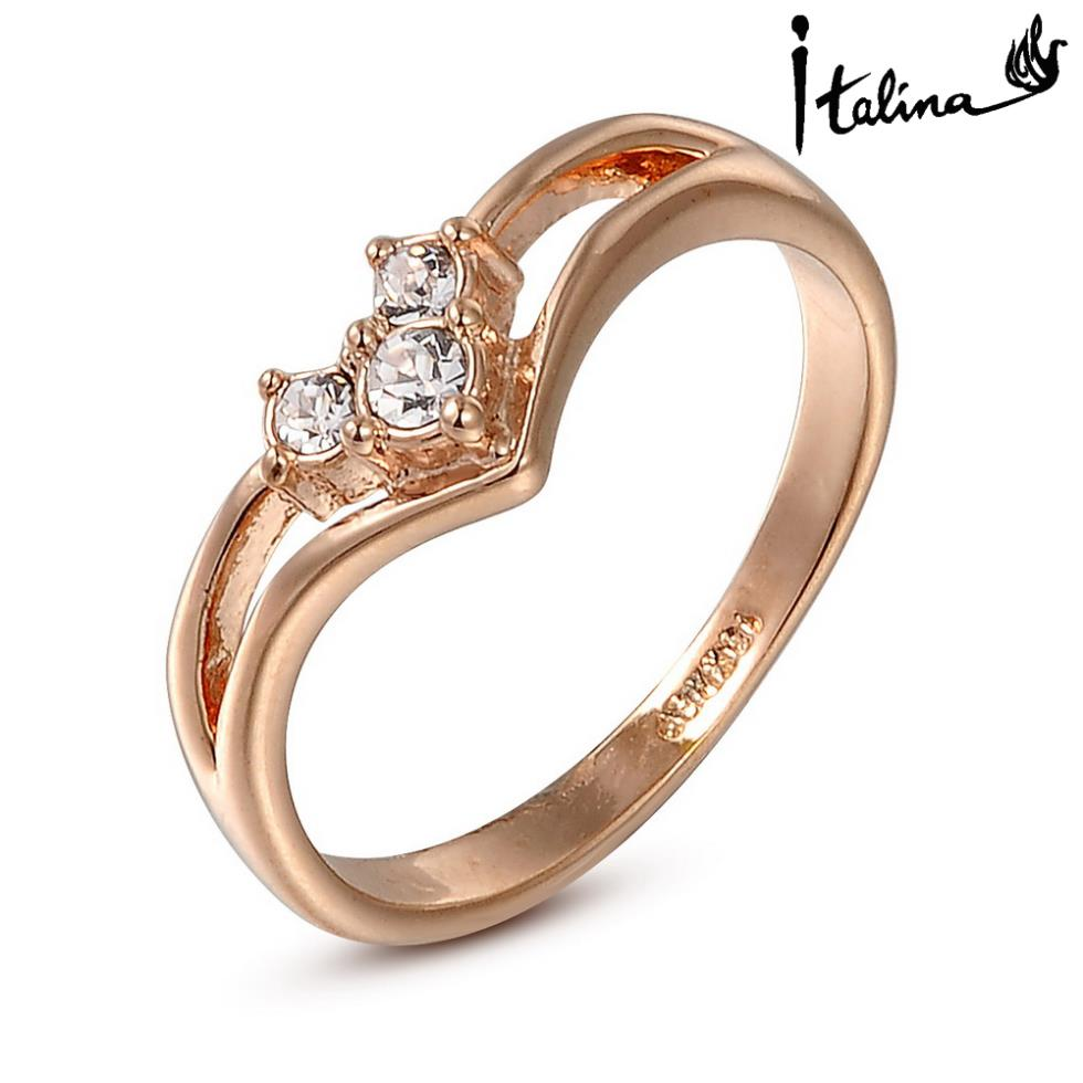 Brand TracysWing Austrian Crystal Copper gold Color Rings for Women Zirconia Fashion healthy Anti Allergies
