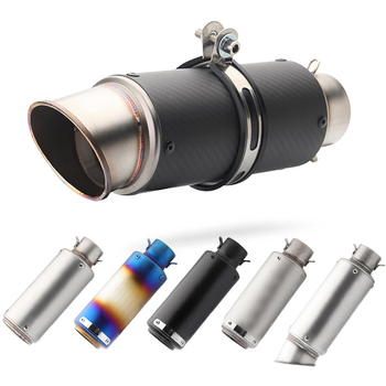 Entrada 51mm 60mm silenciador de tubo de escape de motocicleta DB killer SC, proyecto de tubo de escape de fibra de carbono para R6 CBR1000RR GSXR650 z800 R3