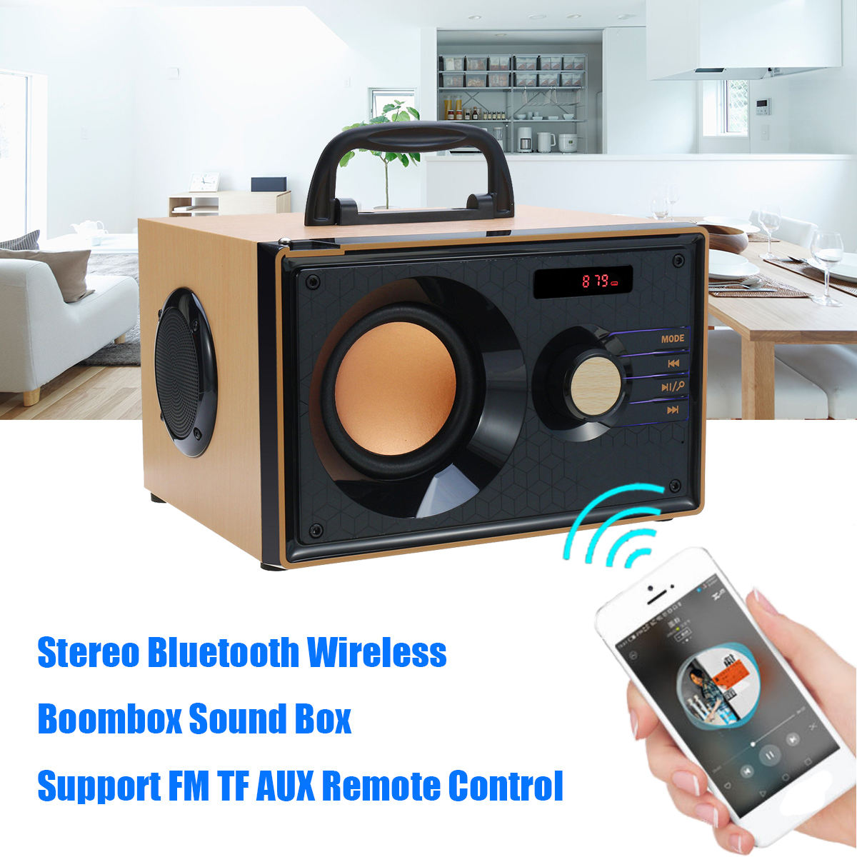 Stereo Bluetooth Speaker Subwoofer Heavy Bass Wireless Big Speakers Boombox Sound Box Support FM TF Home Theater Amplifiers exrizu ms 136bt portable wireless bluetooth speakers 15w outdoor led light speaker subwoofer super bass music boombox tf radio
