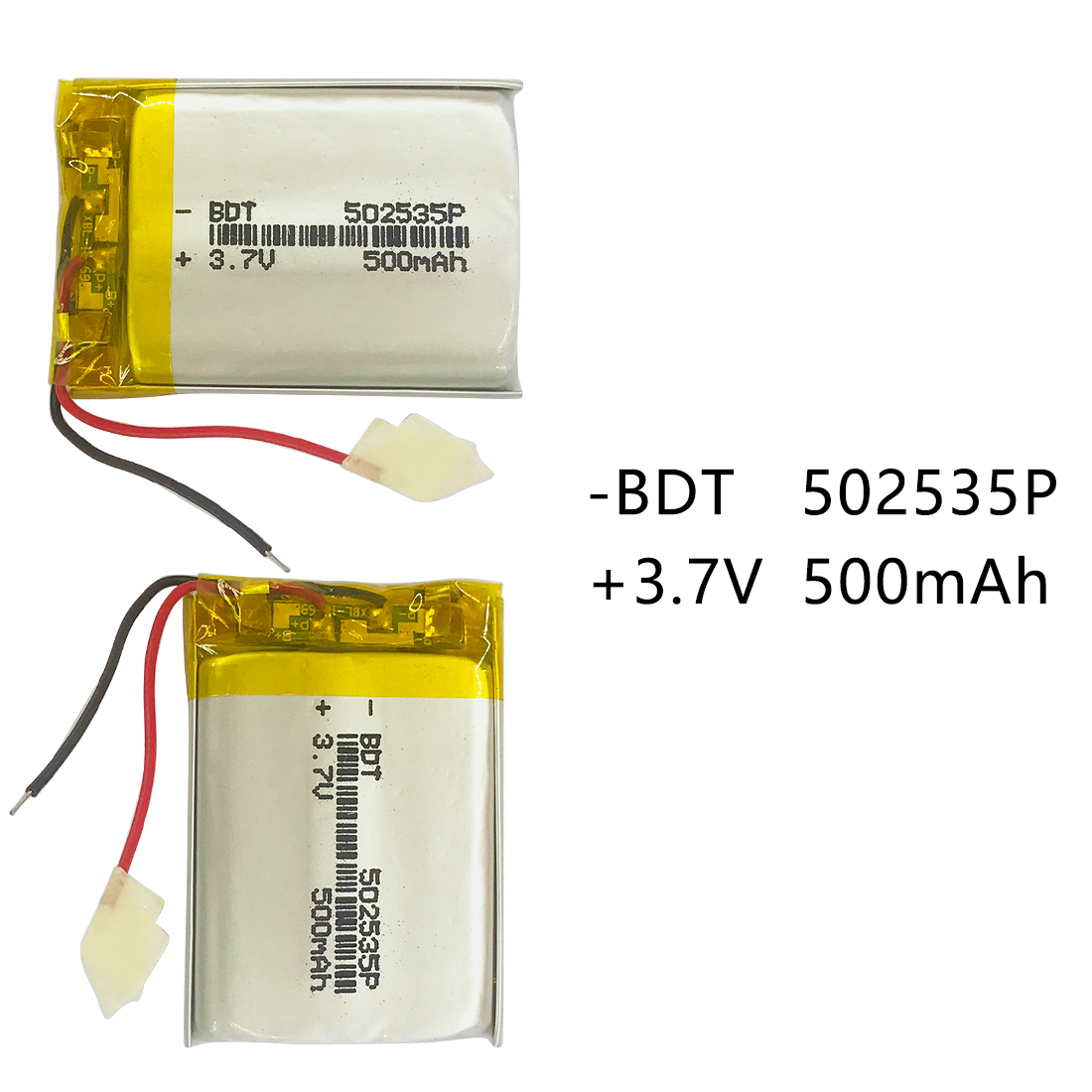 502535 <font><b>3.7V</b></font> <font><b>500mAh</b></font> Lithium Polymer <font><b>Li</b></font>-<font><b>Po</b></font> <font><b>li</b></font> ion Rechargeable <font><b>Battery</b></font> Lipo Cells For Searchlight Tachograph Bluetooth Speaker image