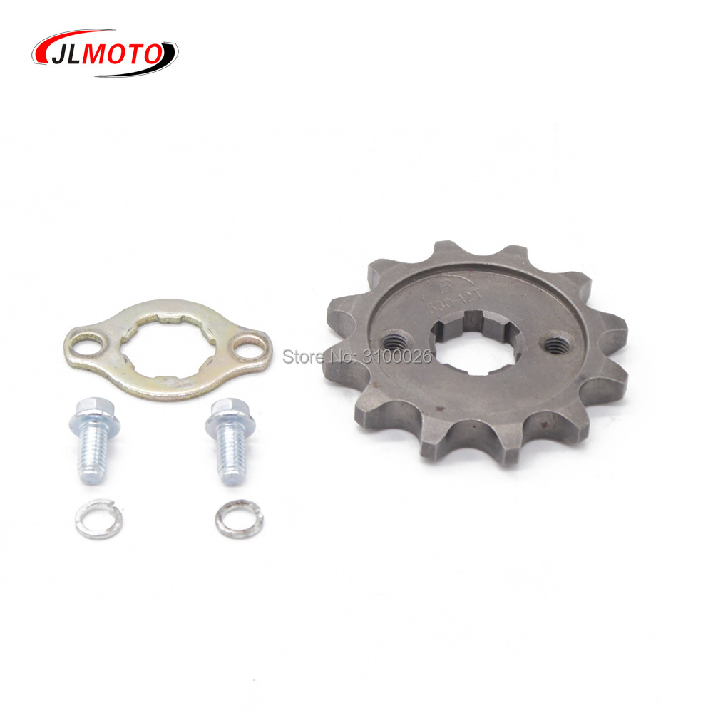 US $4 99 |530# 12T Front Sprocket Fit for200CC 250cc Engine Chain Drive  China ATV UTV Go Kart Buggy Quad Bike Scooter Motorcycle Parts-in ATV Parts  &