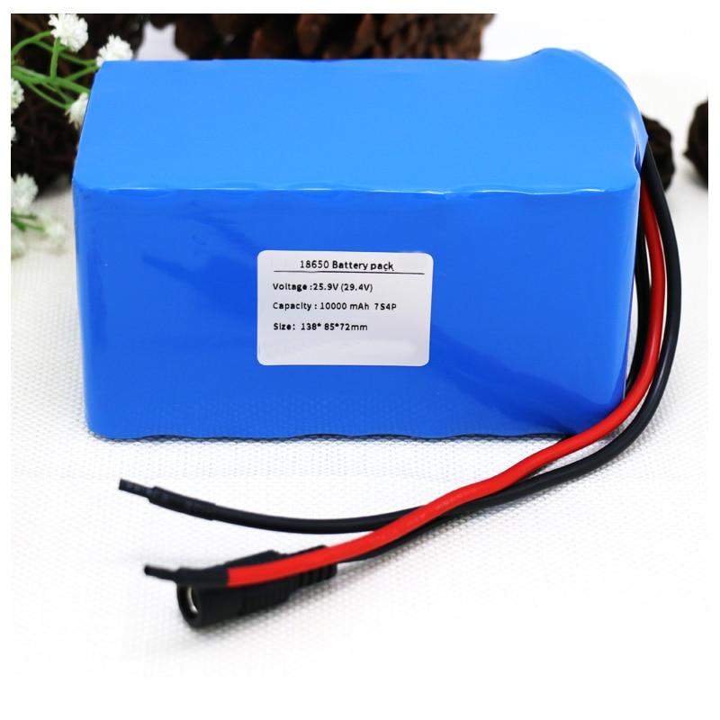 GTF 7 S 24 V 25.9 V 29.4 V 10Ah 18650 batterie au lithium pack pour vélo électrique ebike Li-ion batteries construit en 15A BMS accumulateurs