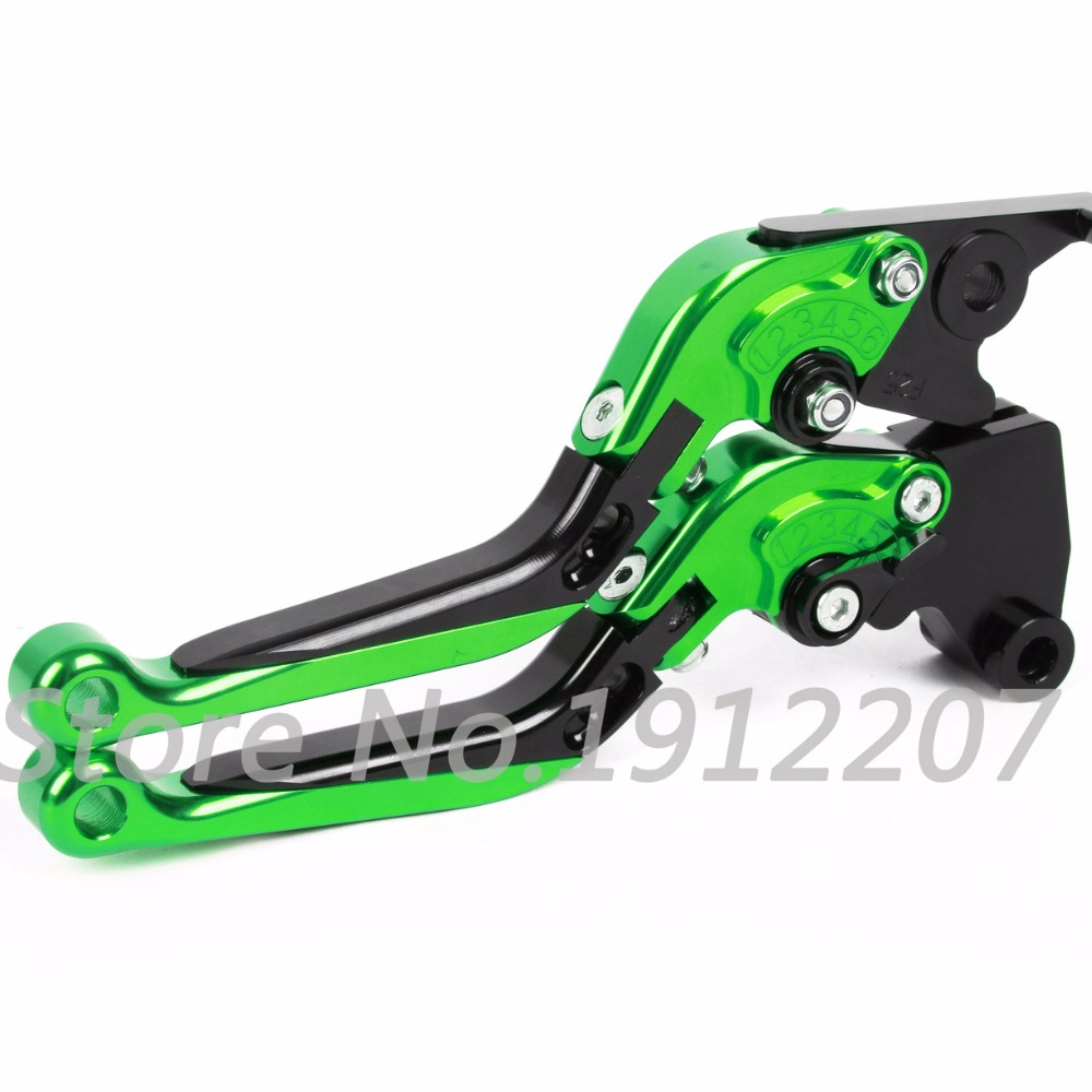ФОТО For Kawasaki ZZR1100 1993-2001 Foldable Extendable 90 Degrees Brake Clutch Levers Aluminum CNC High-quality Folding&Extending