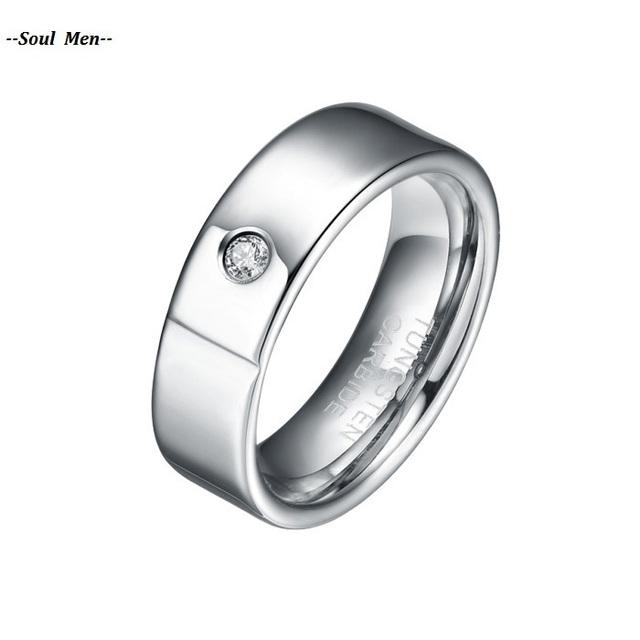 Hot Sale 6mm Tungsten Carbide ring, comfort Fit Women Jewelry Wit CZ Stone Inlay Wedding/Engagement  band WTU027R