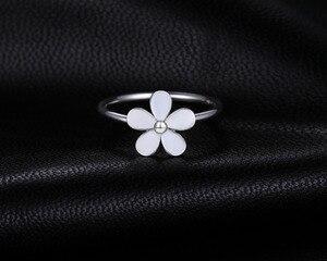 Image 2 - Jewelrypalace Elegante Daisy Weiß Emaille 925 Sterling Silber Ring Frühling Blumen Jahrestag Geschenk Frauen Mode Schmuck Neue