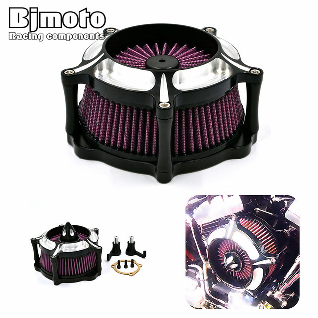 AC-008-BK Motorcycle Aluminum Air Cleaner Intake Filter For Harley Sportster XL 883 1200 2004-2015