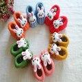 В нью-ручной шерсти обувь детские пинетки симпатичный мультфильм кролик мягкой подошве детская обувь