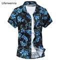 Горячие Продажа 2017 Новая Мода мужские Рубашки Печати Летом Случайные Короткие рукава Рубашки Мужчины Китайский Стиль Slim Fit Мужские Рубашки 5XL 6XL