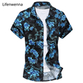 Hot Sale 2017 New Fashion Men's Print Shirt Summer Casual Short Sleeve Shirt Men Chinese Style Slim Fit Mens Shirts 5XL 6XL