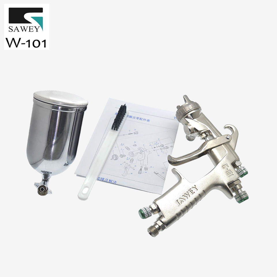 SAWEY W-101 HVLP Gravity Feed Paint Spray Gun Painting Paint Tool With Cup,good as Japan Brand,FREE SHIPPING цена
