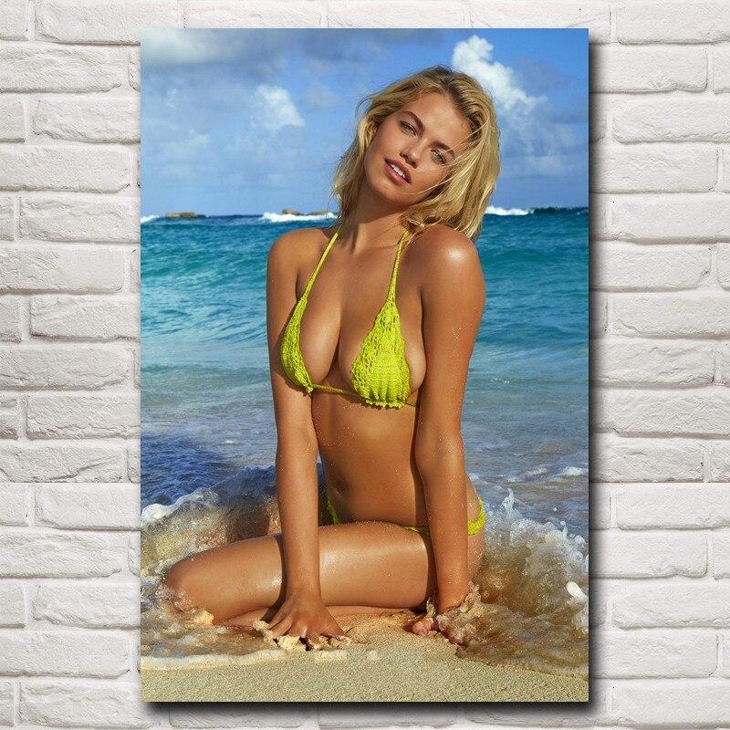 d3c5d9bbe84 Hailey Clauson Hot Sexy Bikini Swimsuit Female models Art Silk Poster  Decorative(12x18,16X24,20x30,24x36 inches)(Free Shipping)