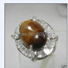 Xfs20141er > красивая тигровый глаз камень кристалл кольцо 7 8 9