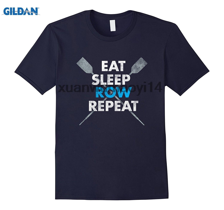 GILDAN EAT SLEEP ROW REPEAT Crew Rowing Shirt