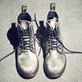 Más el Tamaño 47 Zapatos de Cuero Genuino de Los Hombres Botas de Invierno de Alta Calidad Dr Martins Botas Hombre Chelsea Cargadores de La Motocicleta Caliente de La Venta