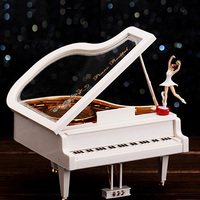 Free Shipping Clockwork Type Rotary Classical Ballerina Girl On The Piano Music Box Music Box Ballerina