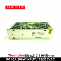 LYSONLED Special Offer Chuangliang A 200 5 200W 5V 40A Switching LED Display Power Supply 100