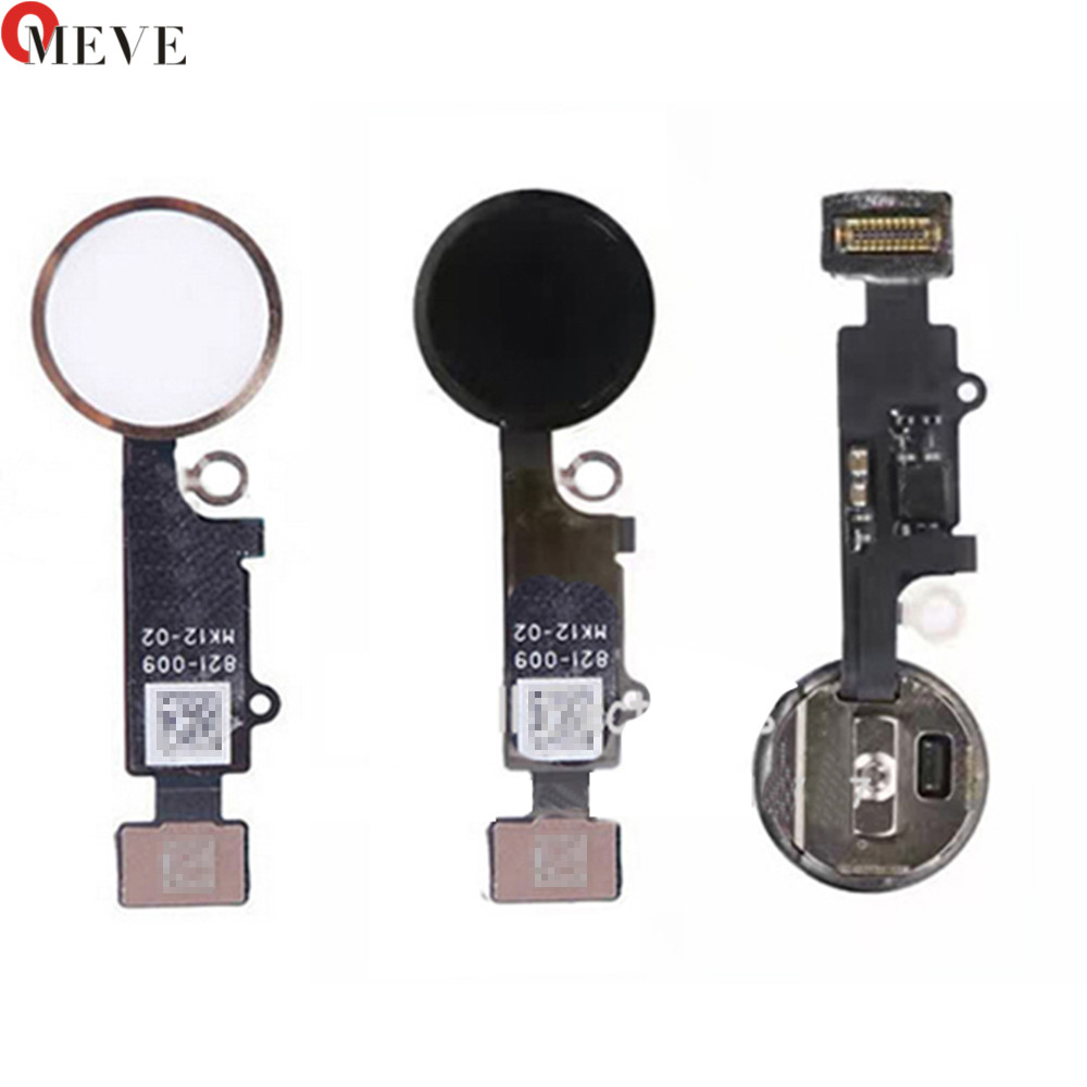 Original quality Home Button with Flex Cable for iPhone 7 4.7 7plus 5.5 BlackWhiteGold Home Flex Assembly