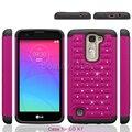 Для LG K 7 Телефон Силиконовый Чехол Гибридный Задняя Крышка С Bling Diamond + Гибридный Тонкий Броня Чехол Для LG K7 Бесплатная доставка