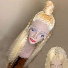 da9ee5d164513 Preplucked 613 شقراء الجزء العميق 13 6 الدانتيل الجبهة الإنسان خصلات الشعر  المستعار مستقيم للنساء السود البرازيلي الحقيقي ريمي ا.