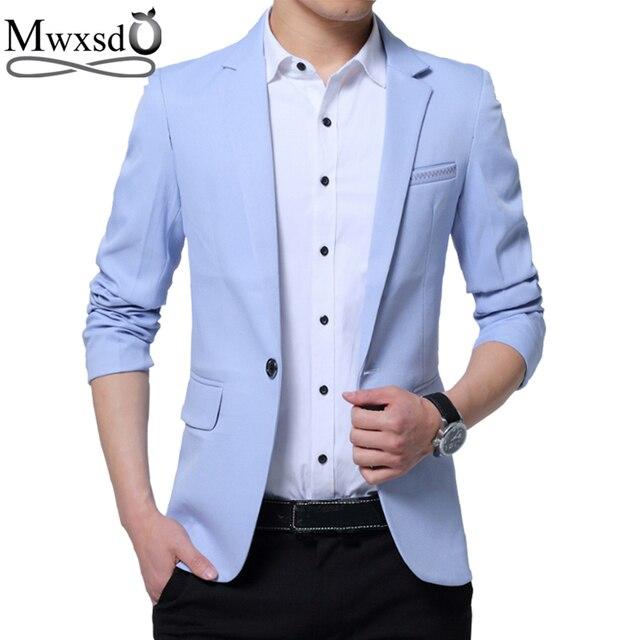 Mwxsd Ocasionais Dos Homens Da Marca Slim Fit Sólidos Suit Blazer Jacket Men Vestido De Noiva Blazer Masculino Terno Preto Hombre