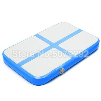 Billiges Trampolin Zum Verkauf   Blau Farbe Aufblasbare Gym Matte 1*0,6*0,2 M Aufblasbare Air Block Air Board Für Verkauf Mini Größe Air Matte Günstige Preis