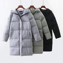 2017 Для женщин Зимняя парка куртка на утином пуху Подпушка пальто элегантный тонкий парка с капюшоном женские теплые пальто S-XL