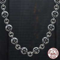 S925 sterling silver necklace personality retro domineering anchor style sweater chain fashion couple birthday gift 2019 new hot