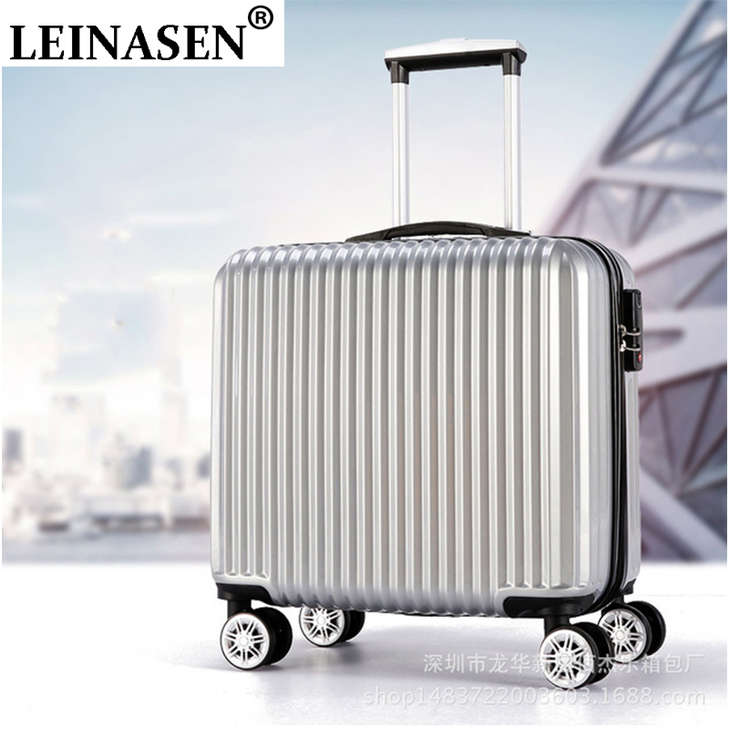 Suitcase Aluminum Frame ABS+PC Luggage 18 Inch Trolley Suitcase Travel Password Luggage Bag Rolling Luggage With Spinner Wheel