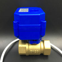 Free Shipping 5 Wires CR05 3 4 Brass Electric Ball Valve DC5V Electric Motorized Valve DN20