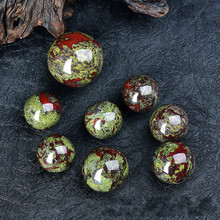 купить 4.5 cm 5cm  5.5cm Dragon Blood Ball Stone Ball Play Ball Decoration feng shui products bloodstone chinese balls for hands дешево