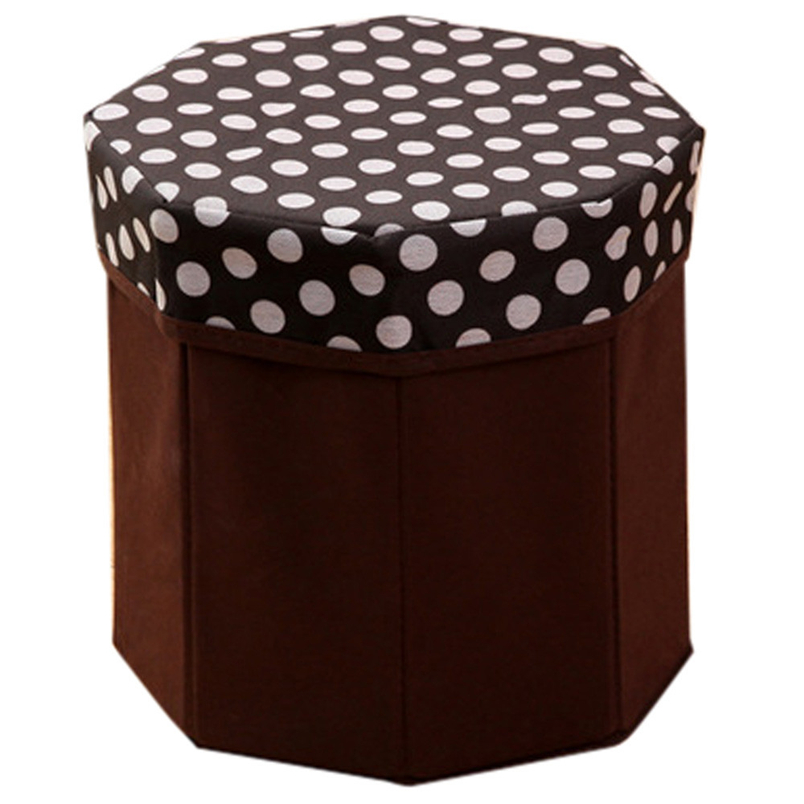 Hot! 1Pc Foldable Storage Foot Stool Children Pouffe Bedroom Home Chair Kids Seat Box home decoration JUNE8
