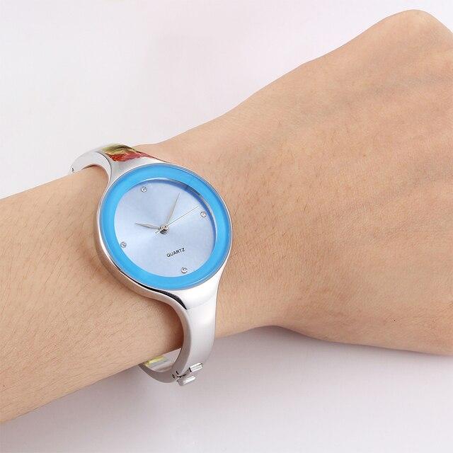 Relojes mujer 2016 Stainless steel Wristwatch Bracelet Quartz watch Woman Ladies Watches Clock Female Dress Relogio Feminino